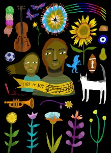 """There are 5 mini murals in East Price Hill along Warsaw Ave. The collection is called """"Building Cultural Understanding"""" by Lizzy DuQuette & John Lanzador"""