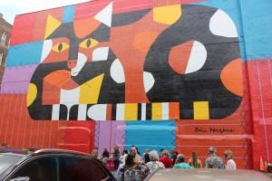 """Cincinnati Master Mural: Edie Harper, """"Crazy Cat, Crazy Quilt"""""""