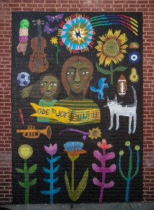 East Price Hill Mural Series: Ode to Joy © 2017 ArtWorks / Lizzy DuQuette & John Lanzador / 3301 Warsaw Ave. / Photo by J. Miles Wolf