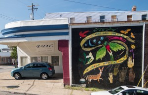 East Price Hill Mural Series: The Community United Will Never Be Defeated © 2017 ArtWorks / Lizzy DuQuette & John Lanzador / 3528 Warsaw Ave. / Photo by J. Miles Wolf