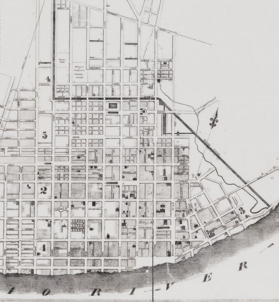 Miami and Erie Canal map