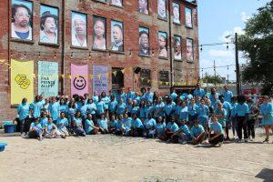 ArtWorks' 2021 Summer Team at Five Points Alley
