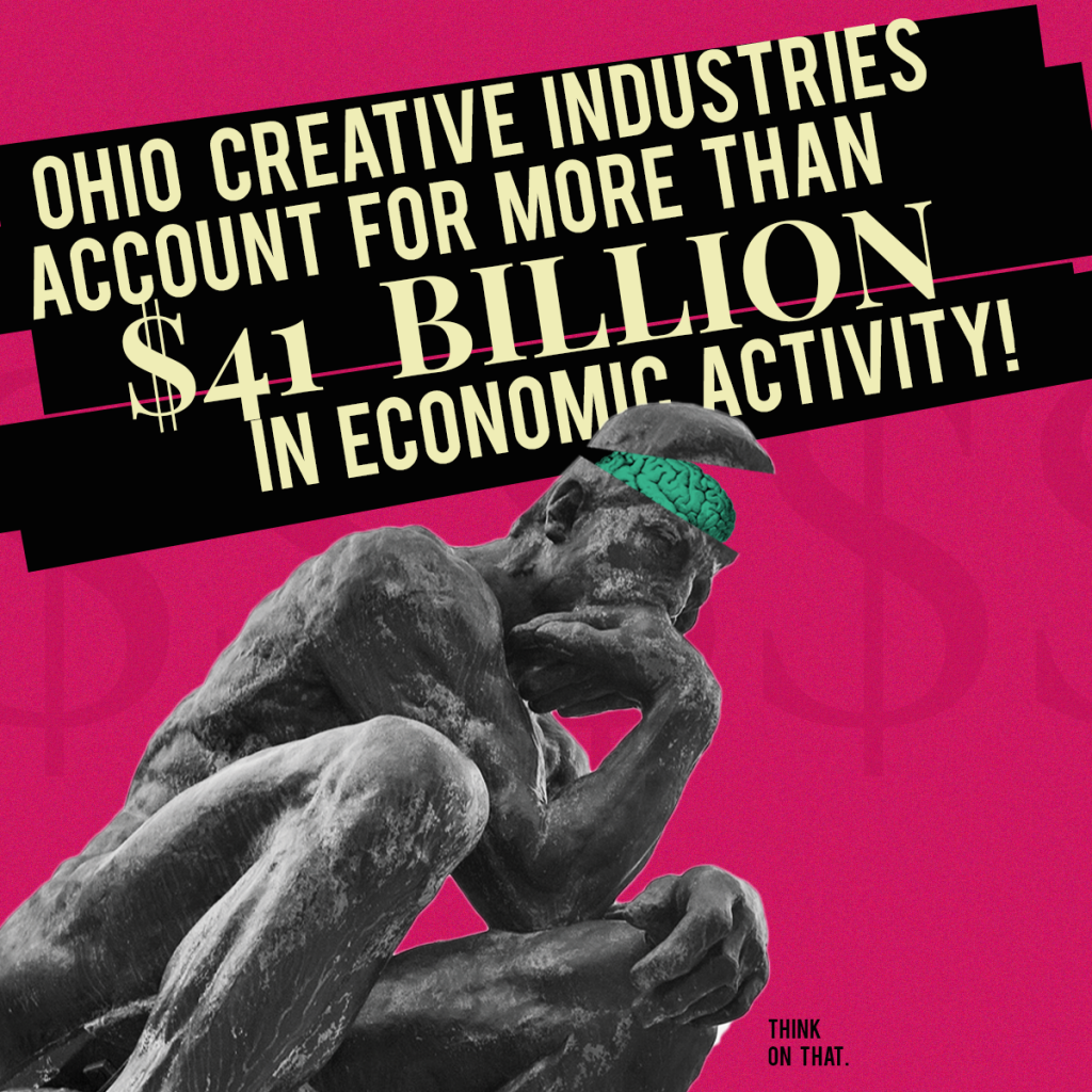 Ohio Creative Industries account for more than $41 billion in economic activity!